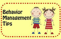 Behavior Management TIps and free printables.