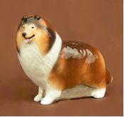 "Standing Collie dog figurine 3¾""x1¼""x3"" $28"