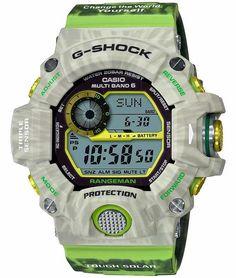 "Casio G-shock Rangeman ""Love the sea and the earth"" / Casio G-shock, Casio Watch, Casio Edifice, Casio G Shock Watches, Japanese Domestic Market, G Shock Men, Radio Wave, Kydex Holster, Sport Watches"