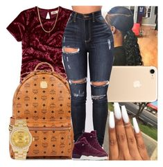 """""""Untitled #1303"""" by msixo ❤ liked on Polyvore featuring Hollister Co., MCM, NIKE and Rolex"""