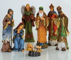 i like this nativity set.well kind of Nativity Creche, The Nativity Story, Christmas Nativity Scene, Nativity Crafts, Nativity Sets, Nativity Painting, Paper Mache Crafts, Christian Christmas, Black And White Painting