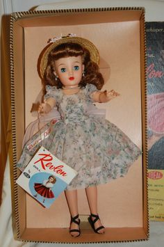 Mint in Box 1950's Vintage 18 inch Miss Revlon doll with tags All Original Looks like the doll I have