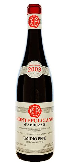 2003 Emidio Pepe Montepulciano d'Abruzzo ... Sean had in LA last week and said it was one of the best wines he has had