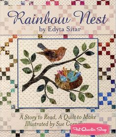 Rainbow Nest by Edyta Sitar of Laundry Basket Quilts - Fat Quarter Shop's Jolly Jabber