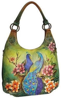Brand New Spring 2013 Anuschka Passionate Peacocks Large Hobo Handbag Purse Burberry Handbags, Hobo Handbags, Fashion Handbags, Purses And Handbags, Hobo Purses, Fashion Bags, Leather Purses, Leather Handbags, Leather Pouch