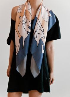 cat scarf by leah goren