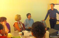 Dirk Cornelis, CLAES-ROELS Printing houdt als gastspreker over duurzaam drukwerk een pleidooi voor papier (werkatelier 3, Vlaams-Brabant, 9 sept 2013)