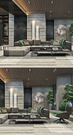 544 Likes, 7 Comments - Designer Living Room Interior, Home Living Room, Living Room Designs, Living Spaces, Modern House Design, Modern Interior Design, Commercial Interiors, Luxury Apartments, Luxury Living