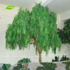 GNW BTR016 Wholesale Environment greening Artificial Weeping Willow Tree for outdoor decoration