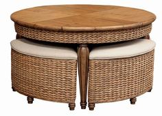 Loved it so much I bought it!  Coffee table and stools to serve as extra seating or use as ottomans.