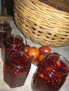 This recipe worked out very well and was delicious. Be careful to leave hard bits, +/- 4 per fruit, behind when scooping flesh from skin. My Farm Kitchen from Weka Weka Farm - Tamarillo Jam Jam Recipes, Fruit Recipes, Chutney, Sweet Stuff, The Balm, Blog, Calm, Favorite Recipes, Magic