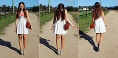 sun rays - Ich bin das typische Sommerkind und zur Zeit vermisse ich die Sonnenstrahlen unglaublich ! Das weise Kleid war letztes Jahr mein Lieblingskleid und wurde ununterbrochen von mir getragen. Ich finde die Schuhe und die Leder Tasche passen hervorragend dazu hihi