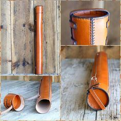 Old style blueprint tube for architects a leather carrying case the blueprint tube is made with 4 5oz vegetable tanned leather and is specially malvernweather Images