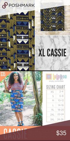 NWT LuLaRoe Cassie NWT LuLaRoe Cassie size XL  🖤Reasonable Offers Welcome 🖤Bundle for 10% discount LuLaRoe Skirts Pencil