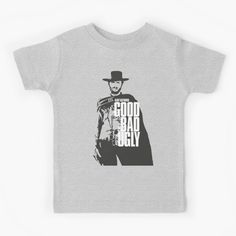 Clint Eastwood child t-shirt Clint Eastwood, Film Movie, Movies, Fanart, Cinema, Children, Illustration, Mens Tops, Movie Posters