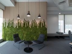 Haldia Petrochemicals Office by Ultraconfidentiel Design - Office Snapshots Haldia Petrochemicals & TCG Offices – Mumbai – Office Snapshots Office Wall Design, Corporate Office Design, Office Walls, Office Interior Design, Interior Walls, Office Interiors, Office Decor, Corporate Offices, Feature Wall Design
