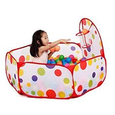 Yistu Pool Toy, Interesting Pop up Hexagon Polka Dot Children Ball Play Pool Tent Carry Tote Toy(Not including balls): Amazon.co.uk: Toys & Games