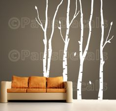 BIRCH TREES Vinyl Wall Decal Product Code T102 by ParisDecals, $78.00
