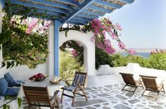 Cozy terace by the ocean front
