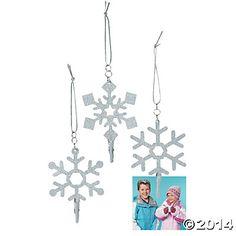Snowflake Photo Clip Christmas Ornaments OTC