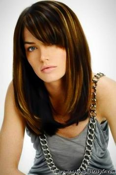 Popular Long Bob Hairstyle with Side Bangs
