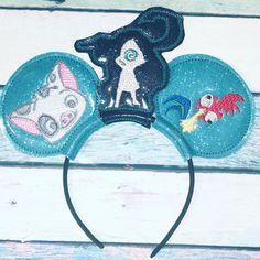 Moana Headband Ears for Sale in Winter Haven, FL - OfferUp Tulle Headband, Black Headband, Headbands, Disney Trips, Disney Parks, Black Felt, Mouse Ears, Custom Embroidery, Disney Inspired