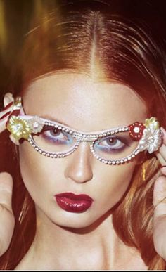c1f5e2c55862 Vive Magazine Jan 2015 features Mercura orchid crystal eyewear styled by  Cameron Carpenter