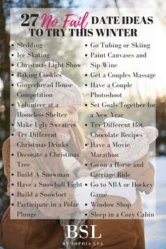 Winter Date Ideas   27 Date Ideas You Have to Take Your Boyfriend On This Winter - By Sophia Lee