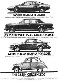 Real Citroen 2CV ad - pretty amusing