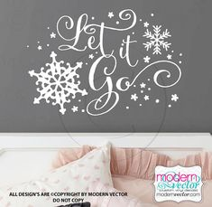 Frozen Quote Vinyl Wall Decal Lettering Decor Let by ModernVector, $13.29