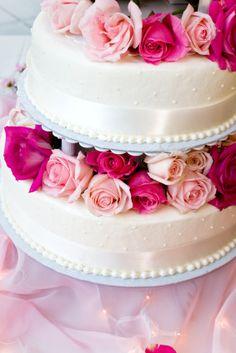Pink and Cream, Victorian Wedding Cake