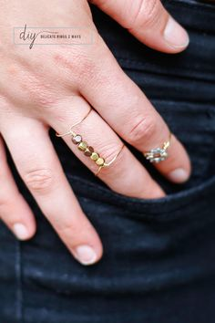DIY Delicate Rings 2 Ways | Henry Happened