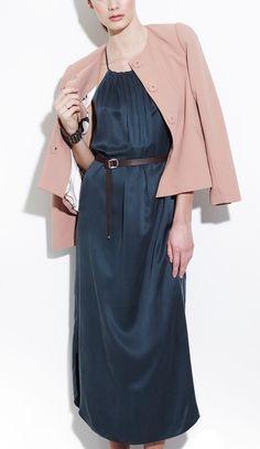 ca0089cd05 Cross-back Belted Silk Maxi Dress Soft Summer Palette