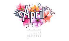 Cute April 2018 Flower Printable