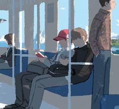 Wip 仕事が遅くて一日中やっても描き終えられない#illustration #illustrator #tatsurokiuchi #art #drawing #life #lifestyle #happy #japan #people #木内達朗 #イラスト #イラストレーション
