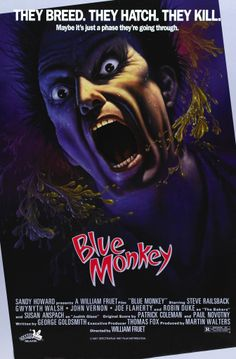 There is no Monkey in this movie, Blue or otherwise
