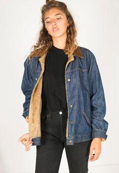 Vintage 80s Wrangler Winter sheepskin jacket / R3220C401