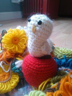 """apple and bird   #crochet  #amigurumi"" #Amigurumi  #crochet"