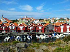 Typical houses in Smögen, Sweden