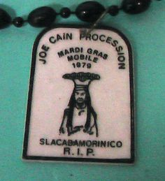 1979 Mobile AL Mardi Gras Necklace Joe Cain Procession Throw Vintage Free Ship