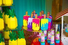 Popsicle Party, Happy Brithday, Cinderella Party, Tropical Party, Ice Cream Party, Diy Box, Shopkins, Beach Party, Luau