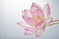 "asylum-art: "" Sakae: creates Exquisite Japanese Floral Hairpins on Facebook, Flickr These transparent ornament hairpins, which Sakae makes, have a beauty that catches your breath. Sakae started to..."