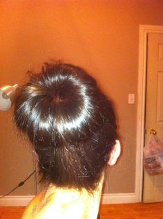 How to Make an EASIER Hair Bun With Easier Rolling!  I need to try this!  My hair is way too long the normal way.