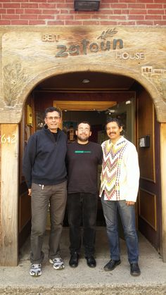 On 17 May, Project Hope Director Hakim spoke at Beit Zatoun in Toronto, Canada. In this picture, Hakim (middle) is accompanied by Robert Mas from Zatoun (left) and Benjamin Santamaria (right).