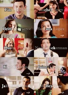 Glee couples.