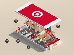 Micro-scaled isometric explosion graphic  Target App