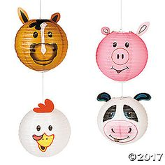 These hanging lanterns are perfect party decorations for a farm-fresh birthday party! Old MacDonald's farm comes to life when you suspend this adorable ...