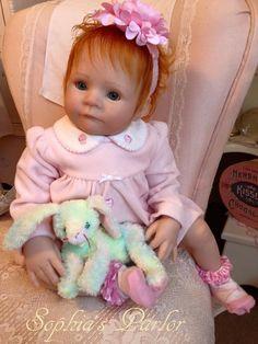 "NEW Reborn Baby Girl 22"" Doll Beautiful Sofie Lynn Jesse Sculpt by Kelly RuBert"