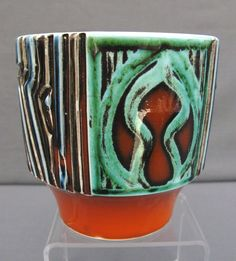 A Poole Pottery Delphis Bowl Planter 1960S70S Decorated BY Patricia Wells