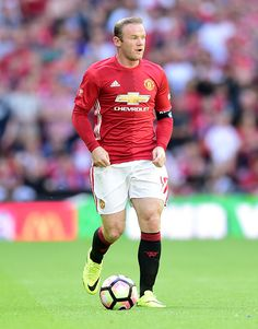 Wayne Rooney of Manchester United in action during The FA Community Shield match between Leicester City and Manchester United at…